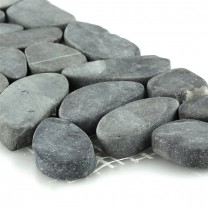 Småsten Bordure 10x30cm Antracit Hell Pebbles