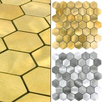 Mosaik Fliser Aluminium Manhatten Hexagon