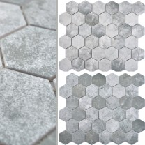 Keramikmosaik Comtessa Hexagon Cement Optik