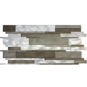 Aluminium Metal Mosaik Talara Mudder Mix 300x600mm