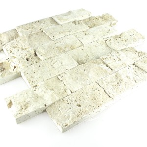 Travertin 3D Mosaik Fliser Chiaro Brick