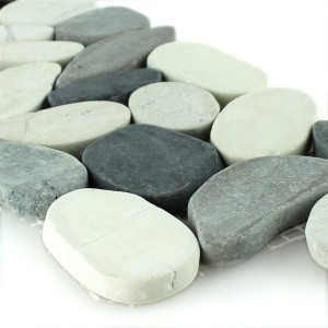 Småsten Bordure 10x30cm Antracit Creme Pebble