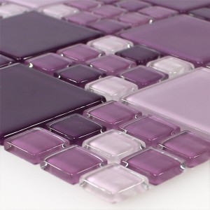 Glasmosaik Fliser Purple Mix