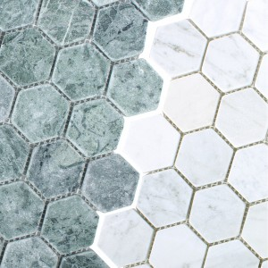 Mosaikfliser Marmor Wutach Hexagon
