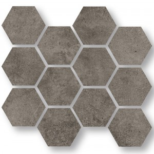 Mosaik Fliser Oregon Grå Brun Hexagon