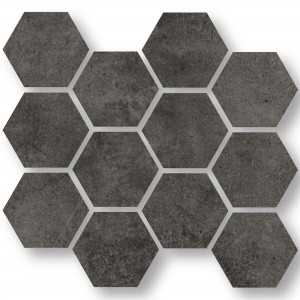 Mosaik Fliser Oregon Antracit Hexagon