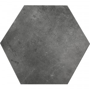 Gulvfliser Halesia Sten Optik Hexagon Sort 52x60cm