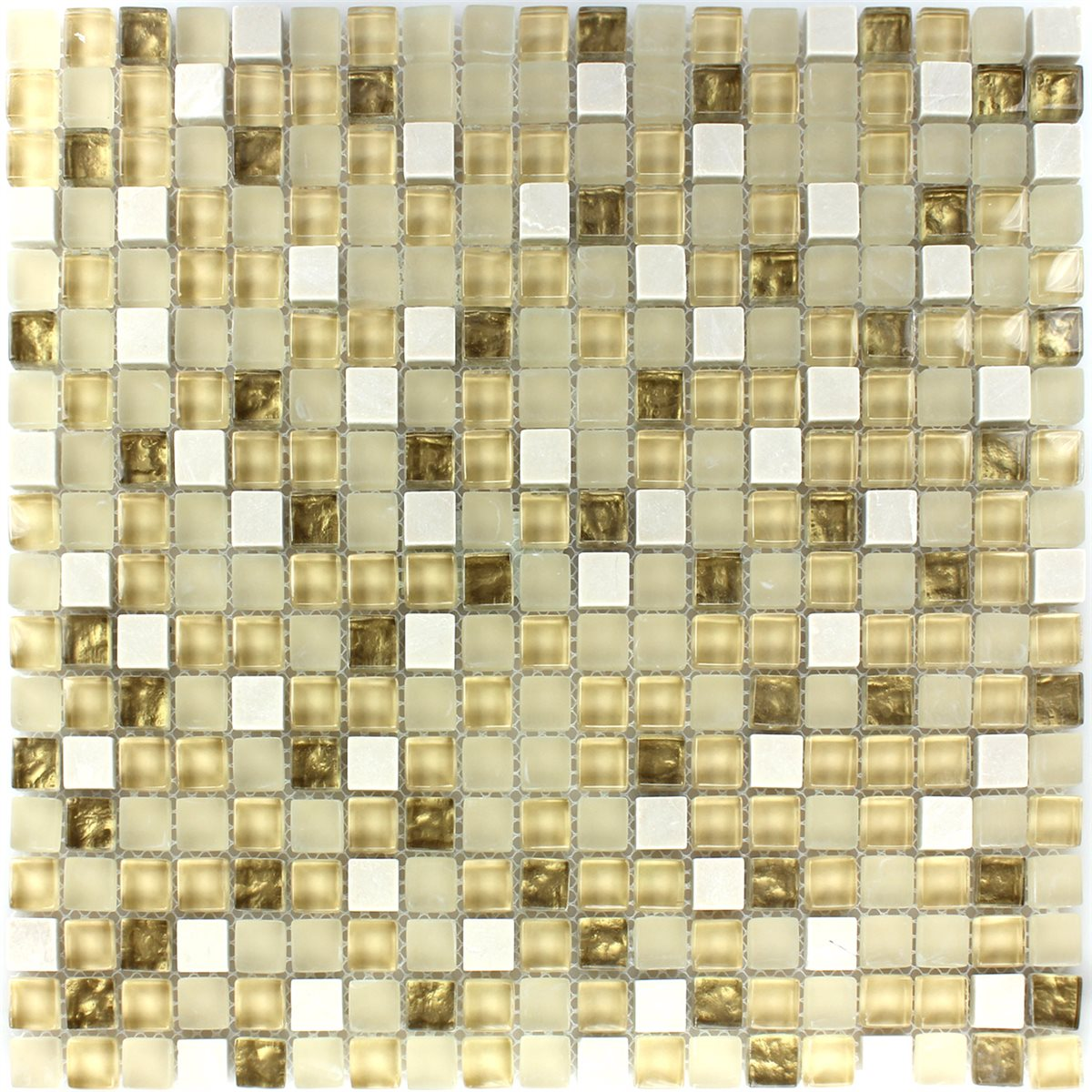 mosaik fliser glas natursten hvid guld mix tm33100m. Black Bedroom Furniture Sets. Home Design Ideas